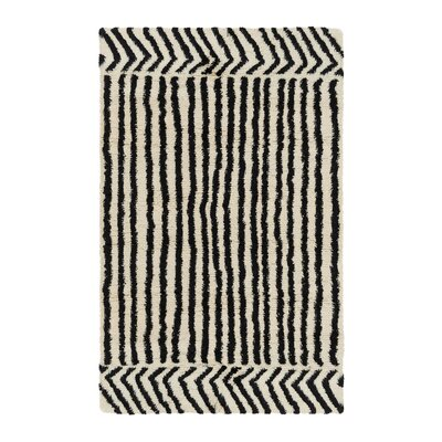 Riad Hand-Woven Ivory Area Rug Rug Size: 5 x 8