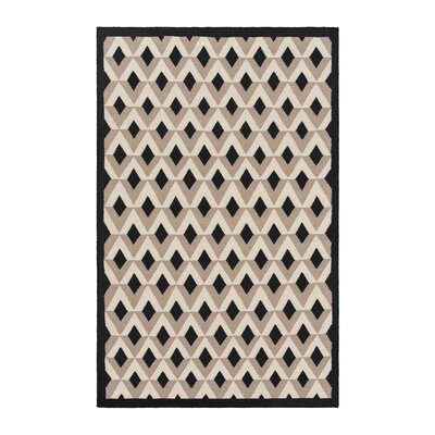 Brown/Ivory Area Rug Rug Size: Rectangle 5 x 8