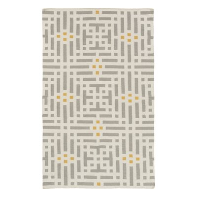 Aravali Hand-Woven Gray/Beige Area Rug Rug Size: Rectangle 5 x 76