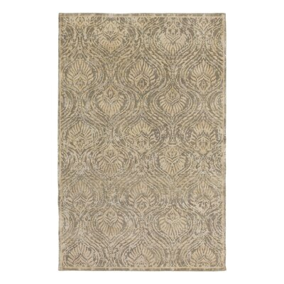 Plume Hand Knotted Flint Area Rug Rug Size: 9 x 13