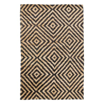 Pyramid Hand Knotted Jute Ink Area Rug Rug Size: Rectangle 6 x 9
