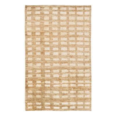 Blocks Hand Knotted Jute Camel Area Rug Rug Size: Rectangle 6 x 9