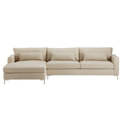 Spencer Left-Hand Facing Chaise Sectional Orientation: Left Facing, Upholstery: Iznik Tile Desert