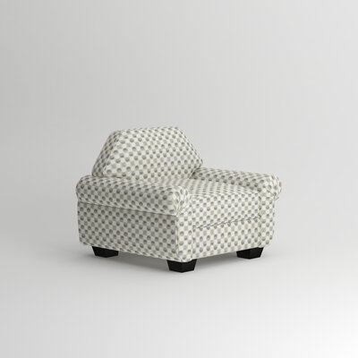 Kravitz Occasional Armchair Body Fabric: Folded Maize Charcoal