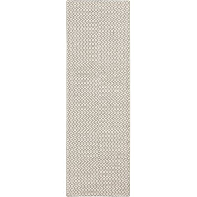 Somerville Taupe & Winter White Rug Rug Size: Runner 26 x 8