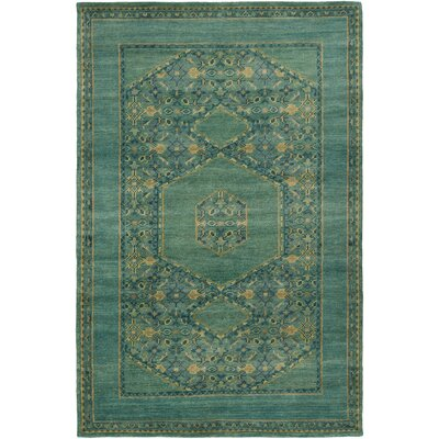 Ryles Teal Area Rug Rug Size: Rectangle 8 x 11
