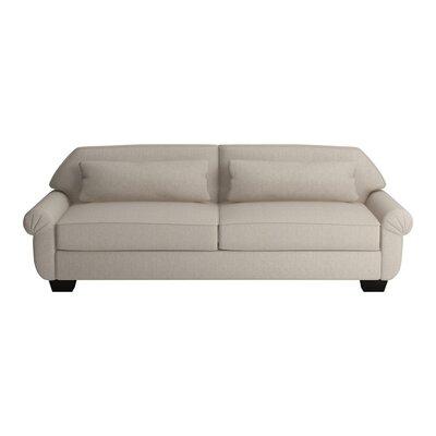 Kravitz Two-Seater Sofa Upholstery: Bliss Linen, Finish: Ebony