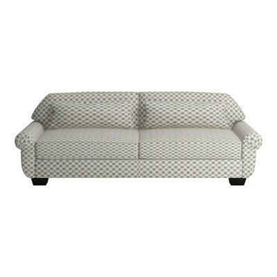 Kravitz Two-Seater Sofa Leg Finish: Ebony, Body Fabric: Zula Rawhide