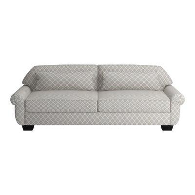 Kravitz Two-Seater Sofa Upholstery: Souk Dove, Finish: Ebony
