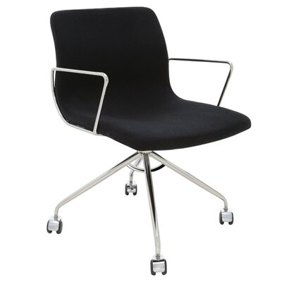 Mid-Back Office Chair with Castors Color: Black Product Photo 32