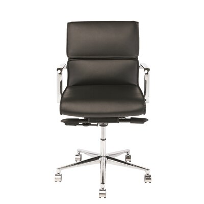 High-Back Office Chair with Arms Color: Black Product Photo 44