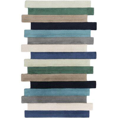 Stripe Area Rug Rug Size: 2 x 3