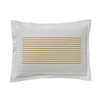 Pinstripe Ochre Sham Size: Standard