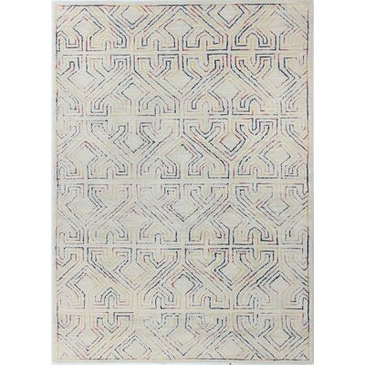 Fort Hamilton Hand-Tufted Ivory Area Rug Rug Size: Rectangle 86 x 117