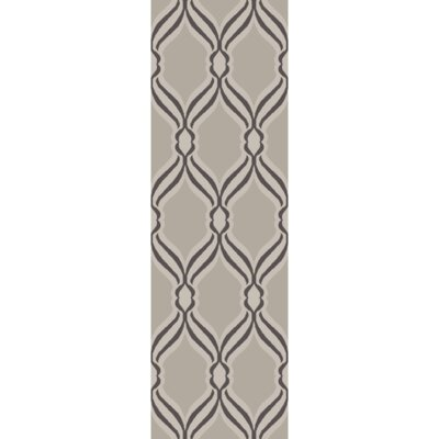 Aziza Light Gray Area Rug Rug Size: Runner 26 x 8