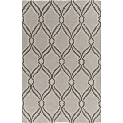 Light Gray Area Rug Rug Size: Rectangle 8 x 10