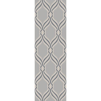 Gray Area Rug Rug Size: Runner 26 x 8