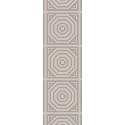 Parker Hand Woven Cotton Gray Area Rug Rug Size: Runner 26 x 8