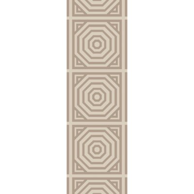 Flatweave Cinder Tufted Wool Ivory Area Rug Rug Size: Runner 26 x 8