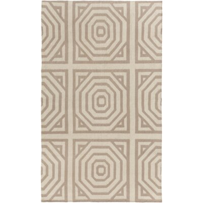 Flatweave Cinder Tufted Wool Ivory Area Rug Rug Size: Rectangle 2 x 3