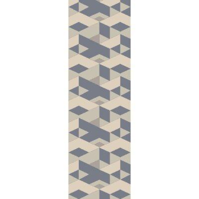 Felix Flatweave Slate Area Rug Rug Size: Runner 26 x 8