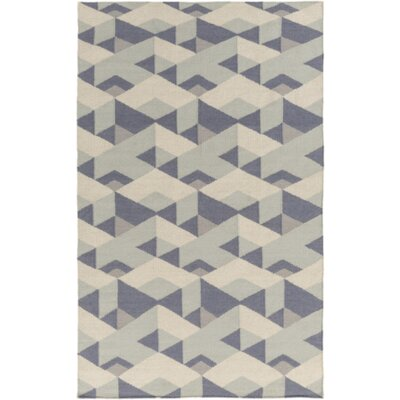 Flatweave Slate Area Rug Rug Size: Rectangle 4 x 6