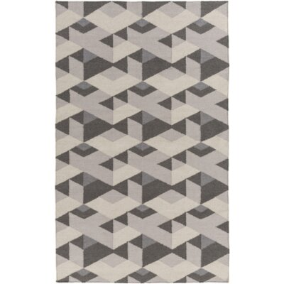 Flatweave Smoke Area Rug Rug Size: Rectangle 4 x 6