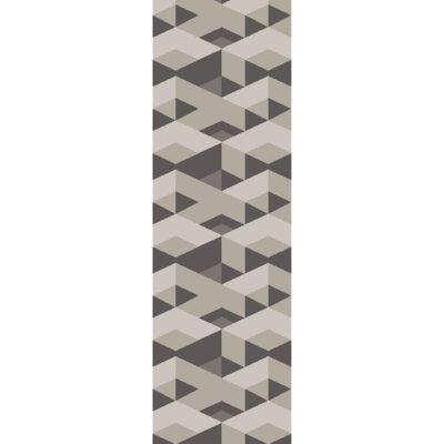 Flatweave Smoke Area Rug Rug Size: Runner 26 x 8