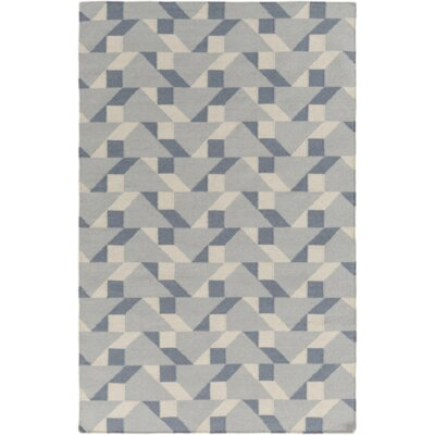 Vaughn Flatweave Tufted Cotton Slate Area Rug Rug Size: Rectangle 4 x 6