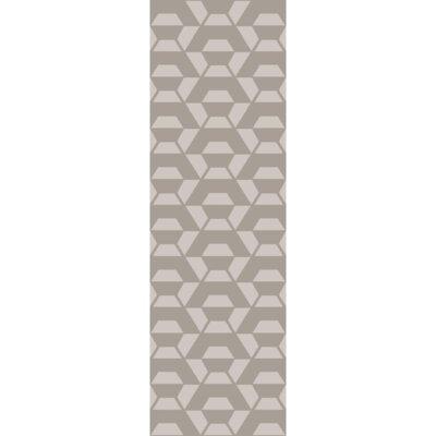 Flatweave Hand-Tufted Wool Gray Area Rug Rug Size: Runner 26 x 8