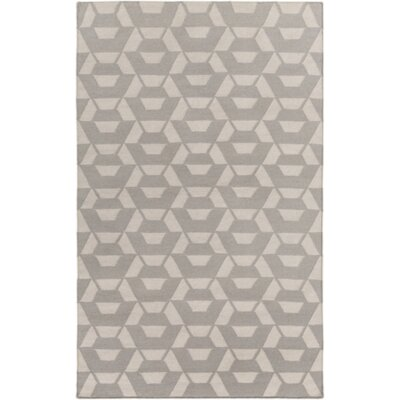 Flatweave Hand-Tufted Wool Gray Area Rug Rug Size: Rectangle 4 x 6