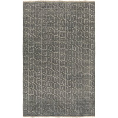 Vichy Hand-Tufted Wool Charcoal Area Rug Rug Size: Rectangle 4 x 6