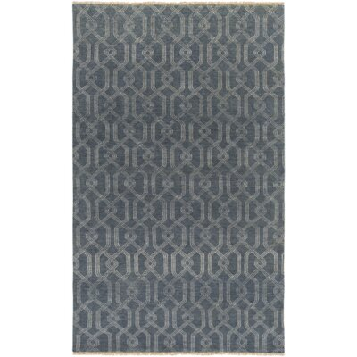 Sutton Hand Knotted Prussian Area Rug Rug Size: Rectangle 8 x 10