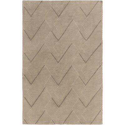 Clive Hand-Tufted Wool Light Brown Area Rug Rug Size: Rectangle 6 x 9