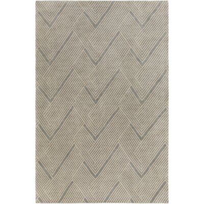 Hand-Tufted Wool Moss/Sea Foam Area Rug Rug Size: Rectangle 6 x 9