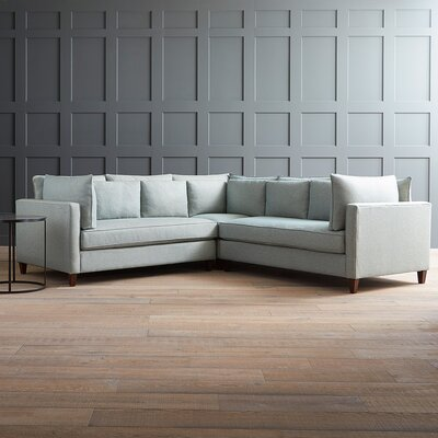 Ayla Sectional Upholstery: Messenger Tuxedo, Orientation: Left Facing