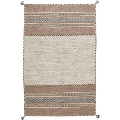 Hand Woven Brown Area Rug Rug Size: Rectangle 4 x 6