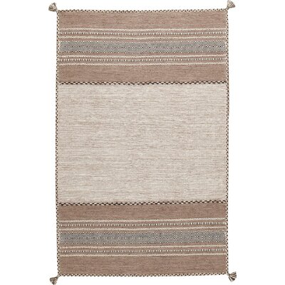 Gray/Taupe Area Rug Rug Size: 5 x 76