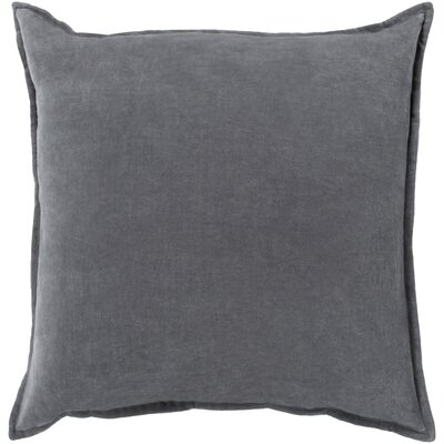 Vienna Cotton Pillow Cover Size: 20 H x 20 W x 1 D, Color: Charcoal