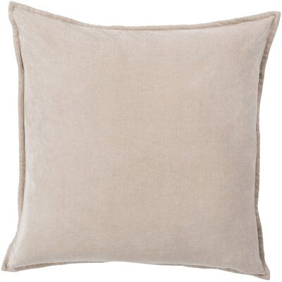 Vienna Cotton Pillow Cover Color: Cottonseed, Size: 18 H x 18 W x 1 D