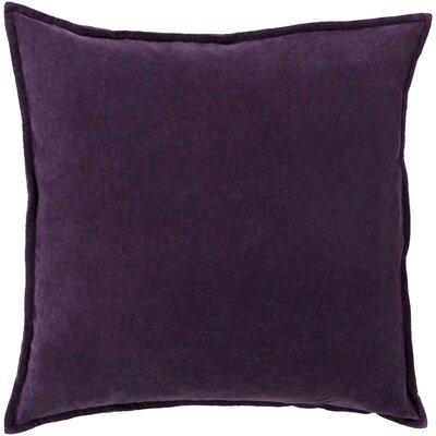 Vienna Cotton Pillow Cover Color: Plum, Size: 18 H x 18 W x 1 D