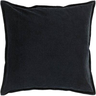 Vienna Cotton Pillow Cover Color: Onyx, Size: 18 H x 18 W x 1 D