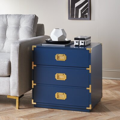 Loren End Table Color: Navy