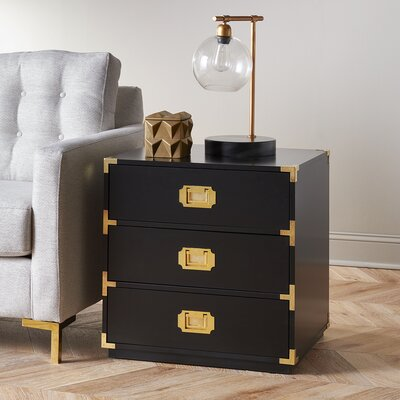 Loren End Table Color: Black