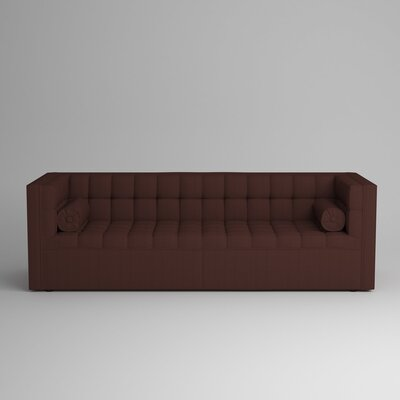 Langford Chesterfield Sofa Upholstery: Zula Oxblood