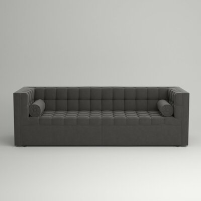 Langford Chesterfield Sofa Body Fabric: Hermes Flannel