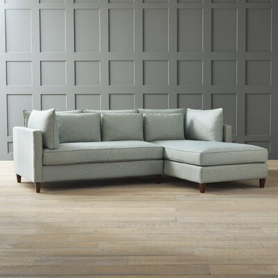 Ayla Sectional Upholstery: Nobletex Rain, Orientation: Right Facing
