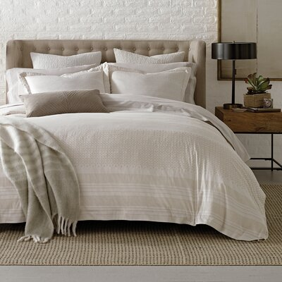 Minka Stripe Duvet Cover Size: King