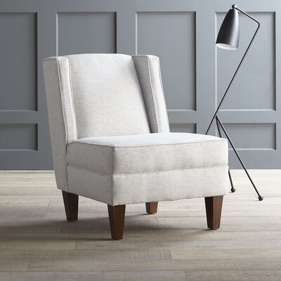 Wainwright Chair Upholstery: Tibby Linen, Finish: Black Walnut