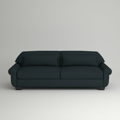 Kravitz Two-Seater Sofa Finish: Ebony, Upholstery: Zula Navy